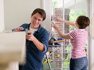 couple renovating their home