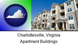 Charlottesville Virginia an apartment building