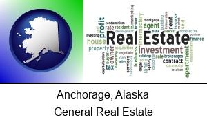 Anchorage, Alaska - real estate concept words