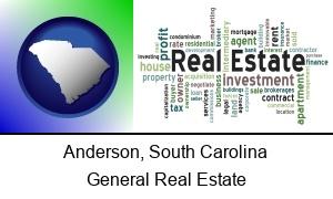 Anderson South Carolina real estate concept words