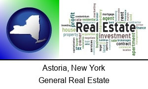 Astoria New York real estate concept words