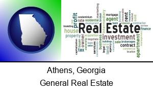 Athens Georgia real estate concept words