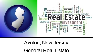 Avalon New Jersey real estate concept words