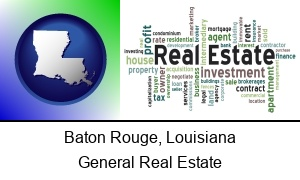 Baton Rouge, Louisiana - real estate concept words