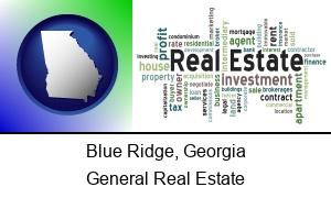 Blue Ridge Georgia real estate concept words