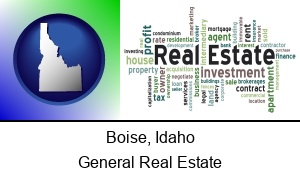 Boise, Idaho - real estate concept words