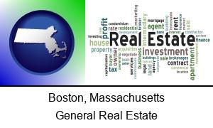 Boston, Massachusetts - real estate concept words