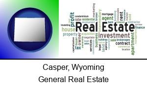 Casper Wyoming real estate concept words