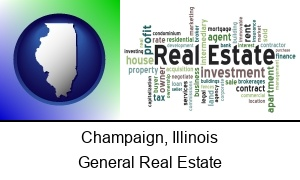 Champaign Illinois real estate concept words