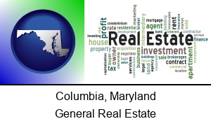Columbia Maryland real estate concept words