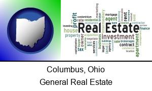 Columbus, Ohio - real estate concept words