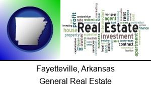 Fayetteville Arkansas real estate concept words
