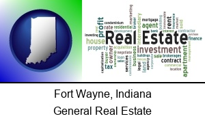Fort Wayne Indiana real estate concept words
