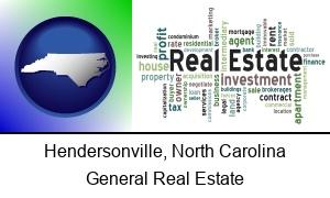Hendersonville, North Carolina - real estate concept words