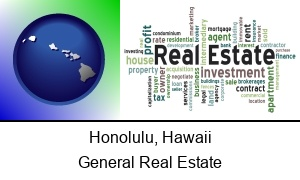 Honolulu, Hawaii - real estate concept words