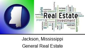 Jackson Mississippi real estate concept words