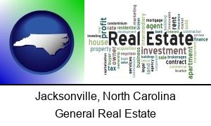 Jacksonville, North Carolina - real estate concept words