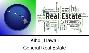 Kihei Hawaii real estate concept words
