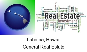 Lahaina, Hawaii - real estate concept words