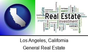 Los Angeles California real estate concept words