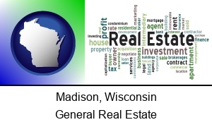 Madison, Wisconsin - real estate concept words