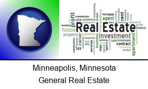 Minneapolis, Minnesota - real estate concept words