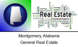 Montgomery Alabama real estate concept words