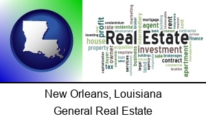 New Orleans, Louisiana - real estate concept words