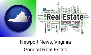 Newport News Virginia real estate concept words