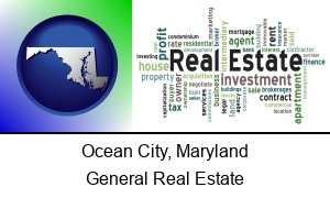 Ocean City Maryland real estate concept words