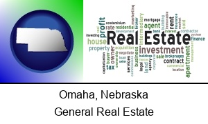 Omaha, Nebraska - real estate concept words