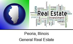 Peoria Illinois real estate concept words