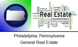 Philadelphia, Pennsylvania - real estate concept words
