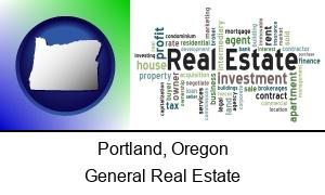 Portland, Oregon - real estate concept words