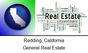 Redding, California - real estate concept words