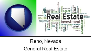Reno, Nevada - real estate concept words