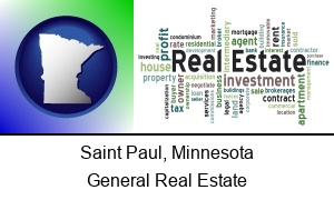 Saint Paul, Minnesota - real estate concept words