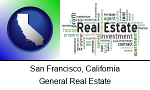 San Francisco, California - real estate concept words
