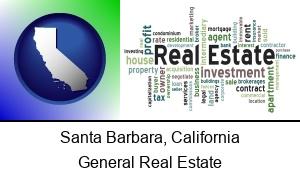Santa Barbara California real estate concept words
