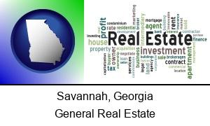 Savannah Georgia real estate concept words