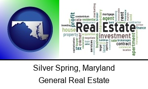 Silver Spring Maryland real estate concept words