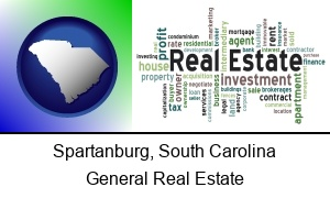 Spartanburg South Carolina real estate concept words