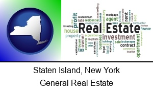 Staten Island New York real estate concept words