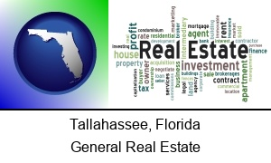 Tallahassee, Florida - real estate concept words