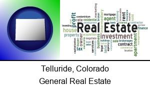 Telluride Colorado real estate concept words