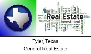 Tyler, Texas - real estate concept words