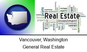 Vancouver, Washington - real estate concept words
