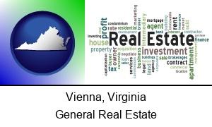 Vienna Virginia real estate concept words