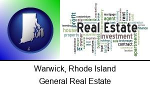 Warwick Rhode Island real estate concept words