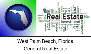 West Palm Beach, Florida - real estate concept words